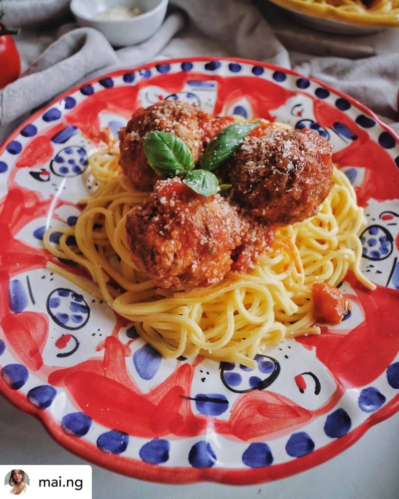 Spaghetti and Meatballs - photo by @ mai.ng London on Instagram